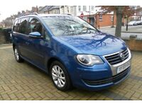 VW TOURAN 7 SEATER 2010 MODEL 2.0TDI MATCH EDITION TOP OF THE RANGE