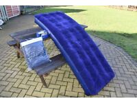 2 X air beds with inflator