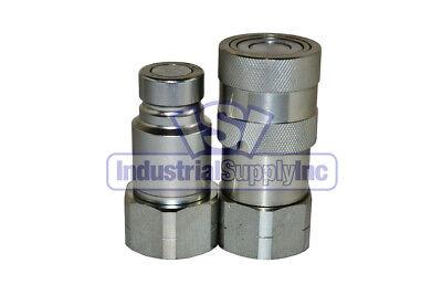 Quick Coupler Iso 16028 Flat Face 12 Coupler X 34 O-ring Boss 1 Pack