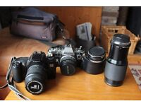 2 old film cameras
