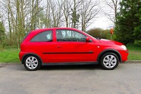Vauxhall Corsa 2005, 3 dr, 1.2 engine, Red