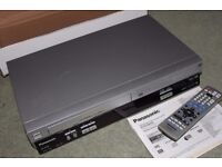 Panasonic NV-VP33 DVD VHS VCR Combo Dual Video Player With Remote & Instructions