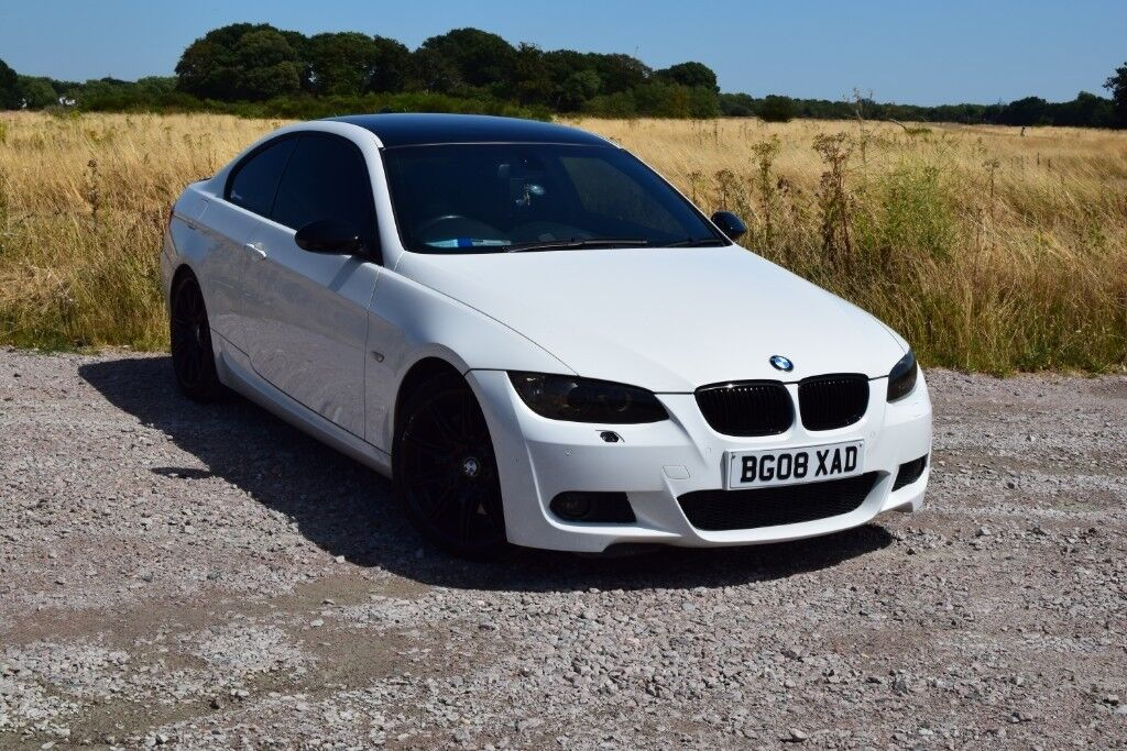 Bmw E92 335d Coupe Auto Alpine White Paddle Shifts Full History Red Leather Interior In Dagenham London Gumtree