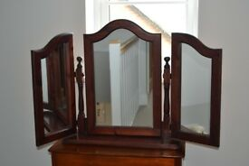 Free Standing Mirror Centre & Two Wings.