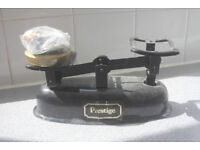 Weighing scales + weights