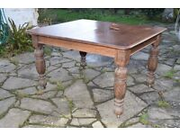 Beautiful solid oak antique wind out dining table