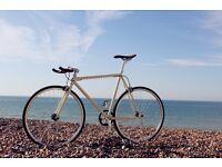 GOKU CYCLES !! Steel Frame Single speed road bike track bike fixed gear racing fixie bicycle 7