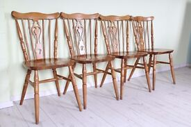 4 FARMHOUSE STYLE KITCHEN CHAIRS - UK WIDE DELIVERY