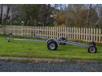 Galvanised boat trailer and launching trolley