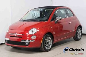 2015 FIAT 500 C CONVERTIBLE LOUGE CUIR