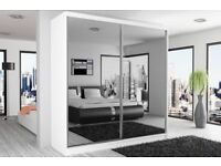 HIGH QUALITY -- 2 Door Sliding Mirror Wardrobe -- Cheap Price -- Same Day Delivery