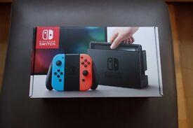 Nintendo switch, Zelda BOTW and grey gel joycon grips