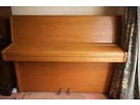 Knight Piano Upright Overstrung Teak