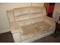 2 Seater Beige/Cream Sofa, £70 ono, buy now have home for xmas