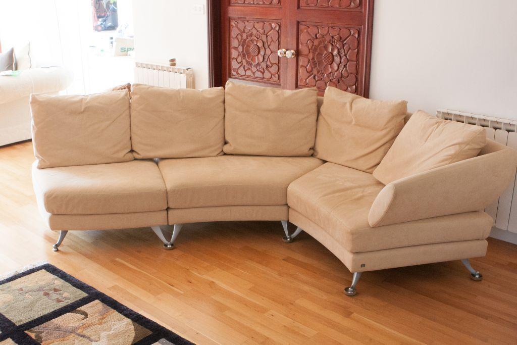 Rolf Benz 222 Luxury Transforming Corner Sofa To Seating Island
