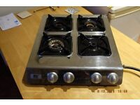 Gas hob, 4 ring make - ENJ . stainles steel, for inside or outside use, very good condition