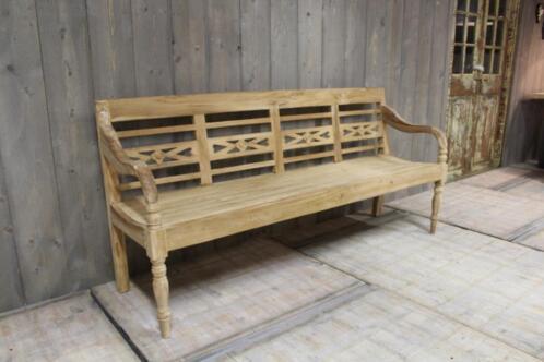 Tuinbank van teak hout tuin bank stationsbank vanaf 150 tuinmeubelen - Bank terras hout ...