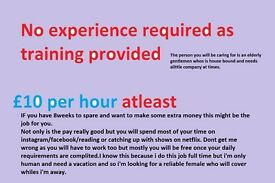 TWO TEMPORARY CARER'S REQUIRED FOR 8 WEEKS VERY GOOD PAY £10PH WITH POSSIBLE BONUS