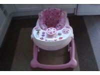 PINK GIRLS CAR BABY WALKER