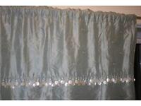 Laura Ashley 100% silk curtains