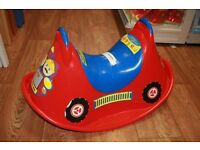 Rocking Fire Engine Seesaw Rocker Garden Toy