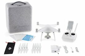 DJI Phantom 4 with 2 Spare OEM Batteries, In-car Charger and Lowepro Back Pack