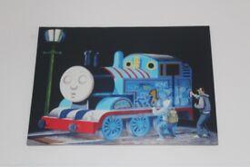 Banksy Canvas Print- Thomas being Graffiti'd