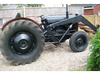 1957 ferguson fe 35 tractor and boom 4 cly diesel classic antiqe retor project good tin all works