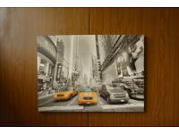 NYC Yellow Taxis canvas