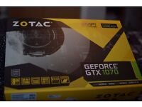 ZOTAC GTX 1070 AMP! EXTREME EDITION BRAND NEW UN-USED