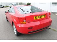 Red Toyota Celica 1.8 VVTi for spares/repair. MOT till August rear sub frame needs replacing