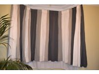 Super handmade lined striped curtains, perfect for Victorian bay window