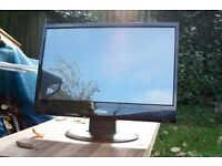 """Monitor: 21.5"""" 1080p 2ms Hard Glass LED LCD 