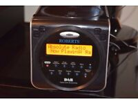 ROBERTS MINI DAB RADIO/CD/ALARM CLOCK/DABANTENNA CANBE SEENWORKING