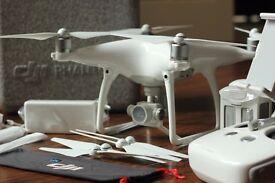 DJI Phantom 4 Drone + Bag + Extra Battery - Professional 4K Camera - FPV Quadcopter - 12MP Aerial