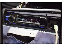 SONY CAR BLUETOOTH USB RADIO AUX IN PLAY IPOD PHONE WIRES CAGE