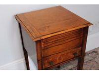 Sewing/craft box, oak, lovely vintage condition.