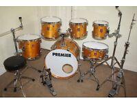 "Premier XPK Lacquered Birch & Eucalyptus Woods 6 Piece Drum Kit (20"" Bass) + Sabian Solar cymbal set"
