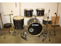Tama Superstar Purple Lacquered 5 Piece Full Drum Kit (22in Bass) + All Stands + Cymbal set