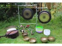Sound Healing Therapy with Gongs, Crystal Singing Bowls, Tibetan Bowls, Drums & Voice