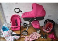 Stokke Xplory V3 pram travel system 3 in 1 - Limited Edition Pink *can post*