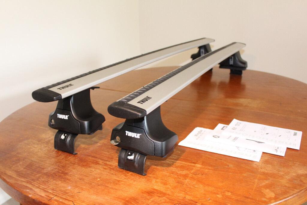 thule honda jazz roof bars wingbar 961 rack 2002 2008 5. Black Bedroom Furniture Sets. Home Design Ideas