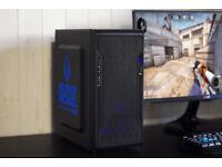 Cheap Gaming PC Computer Desktop Intel Quad Core Windows 10 Nvidia GTX LED Quiet Fan