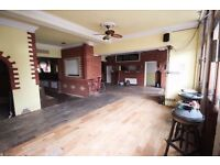 8 bed Old Pub to let! Very cheap rent for 1-1.5 year let. Perfect Art Space