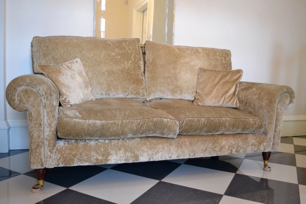 laura ashley kingston 2 seater sofa upholstered in caitlyn biscuit in prestwick south. Black Bedroom Furniture Sets. Home Design Ideas