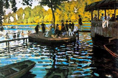Claude Monet Bathing at La Grenouillre Oil On Canvas French Impressionist Artist Claude Monet Impressionist Canvas