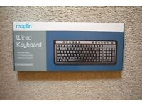 Brand new, very used Maplins wired keyboard