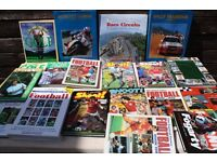 BOOKS - SPORTING SPORTS - FOOTBALL / MOTORSPORT / GOLF - JOB LOT - COLLECTABLES