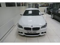 BMW 5 SERIES 3.0 530d M Sport Touring Auto 5dr (white) 2015