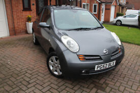 STUNNING 03 52 NISSAN MICRA SVE AUTOMATIC, 34000, MILES, 1 OWNER, FSH, HPI